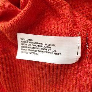Mossimo Supply Co. Sweaters - Mossimo Orange Cotton Cardigan Lightweight